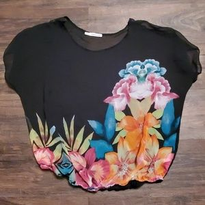 Maurice Sheer Floral Top